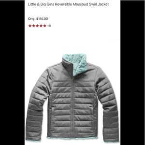 NWT!The North Face Reversible MossBud swirl jacket